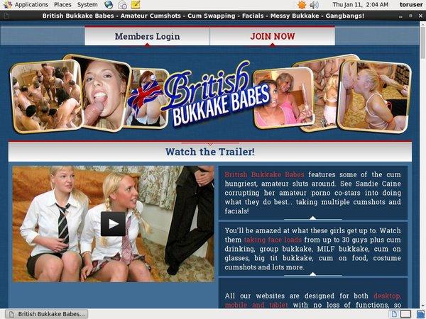 British Bukkake Babes Promo Codes