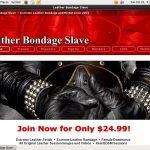 Leather Bondage Slave Hub