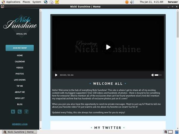 Nicki Sunshine Membership Deal